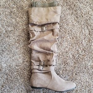 NWOT Knee-high Tan Boots